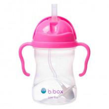 B.Box - Bidon niekapek z obciążoną słomką - Kolor różowy granat 00511