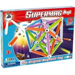 SUPERMAG 0100 Klocki magnetyczne Maxi - 92 el. NEON