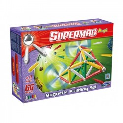 SUPERMAG 0103 Klocki magnetyczne Maxi 66el. - Klasyczne kolory