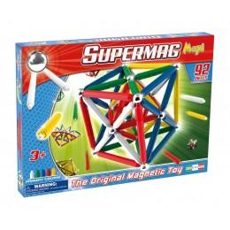 SUPERMAG 0108 Klocki magnetyczne Maxi - 92 el. Podstawowe kolory