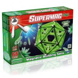 SUPERMAG 0118 Klocki magnetyczne Maxi - 66 el. - Świecące w ciemności