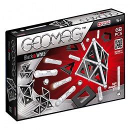 GEOMAG Klocki magnetyczne - 012 - Białe i czarne 68 elementów