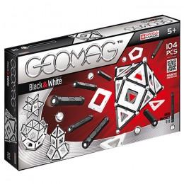 GEOMAG Klocki magnetyczne - 013 - Białe i czarne 104 elementy