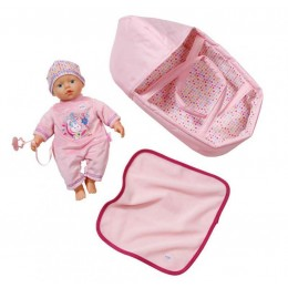 ZAPF CREATION Lalka BABY BORN z nosidełkiem 0322