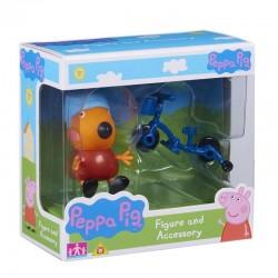 Świnka Peppa 06381 Zestaw figurka + akcesoria - Freddy + rower