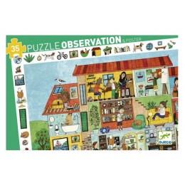 DJECO 07594 Puzzle obserwacyjne DOM