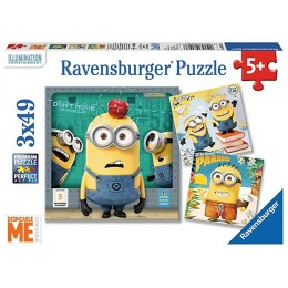 Ravensburger - Puzzle Minionki 3w1 - 080076