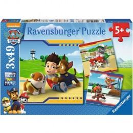 Ravensburger - Puzzle 3w1 - Psi Patrol Najlepsi Przyjaciele - 093694