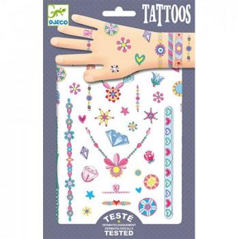 DJECO 09587 Tatuaże metaliczne - klejnoty Jenni