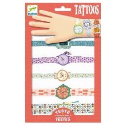 DJECO Tatuaże metaliczne - Zegarki Wendy 09588