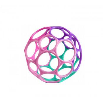 Oball – Elastyczna kolorowa piłka gryzak – różowa – 12289