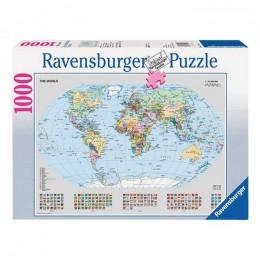 Ravensburger - Puzzle Mapa świata 1000 el - 156528