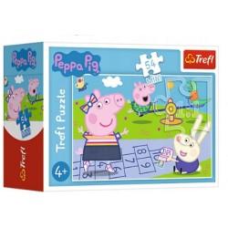 Trefl - Puzzle Mini 54 elementy - Peppa gra w klasy - 19627