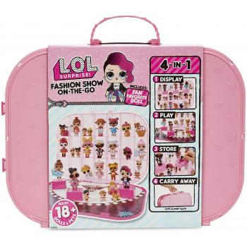 LOL Surprise! - Pokaz mody - Jasnoróżowa walizka na laleczki 562696