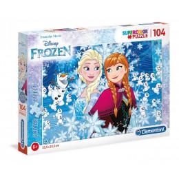 Clementoni - Puzzle brokatowe - 104 elementy - Frozen - 20153