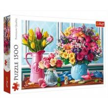 Trefl 26157 Puzzle 1500 el Kwiaty w wazonach