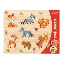 Trefl – Puzzle ramkowe 7 elementów – Leśne zwierzątka – 31307