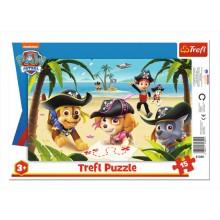 Trefl – Puzzle ramkowe 15 el – Piraci z Psiego Patrolu – 31350