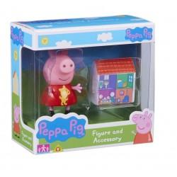 Świnka Peppa 06381 Zestaw figurka + akcesoria - Peppa i domek