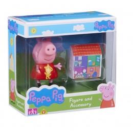 Świnka Peppa Zestaw figurka + akcesoria - Peppa i domek 06381