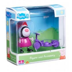 Świnka Peppa 06381 Zestaw figurka + akcesoria - Zoe i hulajnoga