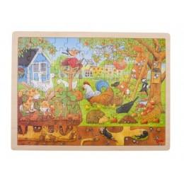 GOKI 57743 Drewniane puzzle - Ogródek na farmie