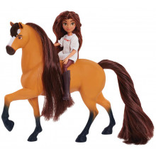 Mustang Spirit: Riding Free - Lucky i Spirit - Figurka i koń 39051