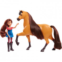 Mustang Spirit: Riding Free - Lucky i Spirit - Figurka i koń 39050 39238