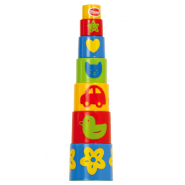 GOWI GW45307 Kolorowa piramidka - 7 kubełków