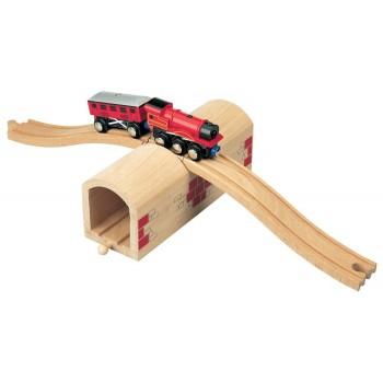 MAXIM 50430 Dodatek do kolejki - Drewniany tunel z przejazdem na górze