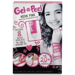 GEL-A-PEEL 518709 Zestaw do tworzenia biżuterii NEONOWY RÓŻ (Neon Pink)