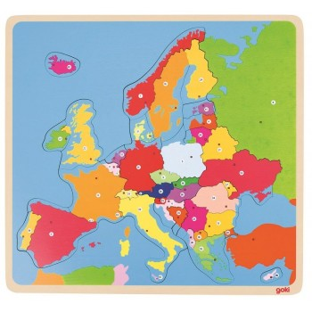 GOKI 57509 Układanka drewniana - Mapa Europy