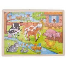 GOKI 57745 Puzzle drewniane - życie na farmie
