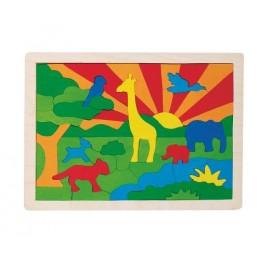 GOKI 57990 Puzzle drewniane - Dżungla - 57 elementów