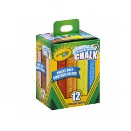 Crayola – Kreda chodnikowa zmazywalna niepyląca – 12 kolorów – 61212
