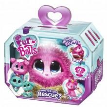 Fur Balls - Pluszowa maskotka do adopcji - Zwierzątko Niespodzianka Różowe 635P