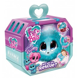 Fur Balls - Pluszowa maskotka do adopcji - Zwierzątko Niespodzianka Turkusowe 66861