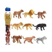 SAFARI LTD 694604 Zwierzęta w tubie - Dzikie koty