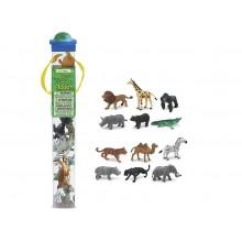 SAFARI LTD 695004 Zwierzęta w tubie - Dzikie zwierzęta
