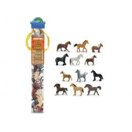 SAFARI LTD 695604 Zwierzęta w tubie - Konie