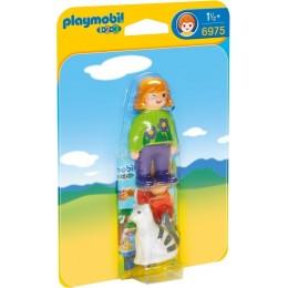 Playmobil 1-2-3 6975 Dziewczynka z kotem - figurki