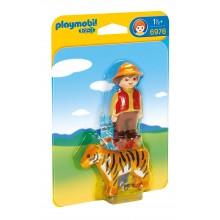 Playmobil 1-2-3 6976 Ranger z tygrysem - figurki