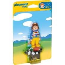 Playmobil 1-2-3 6977 Dziewczynka z psem - figurki