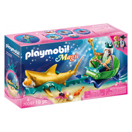 Playmobil Magic 70097 - Król morza z rekinem