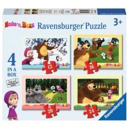 Ravensburger - Masza i Niedźwiedź 4w1 - 070282