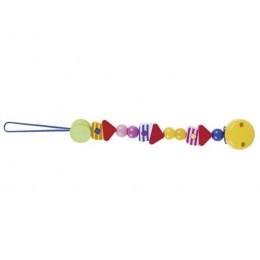 GOKI 732190 Drewniany łańcuszek do smoczka - żółty