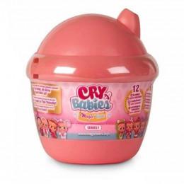 Cry Babies Magic Tears - Płacząca lalka-niespodzianka malinowa - 6 akcesoriów 8442
