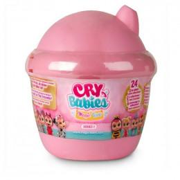 Cry Babies Magic Tears - Płacząca lalka-niespodzianka różowa - 6 akcesoriów 8442