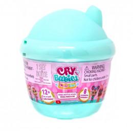 Cry Babies Magic Tears - Płacząca lalka-niespodzianka turkusowa - 6 akcesoriów 8442