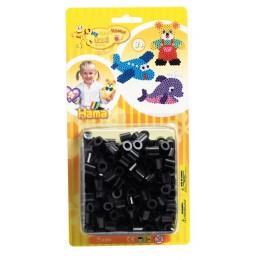HAMA MAXI 8618 Koraliki czarne w blisterze 250 szt